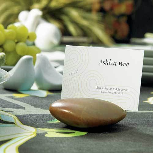 Natural Stone Place Card Holders 1