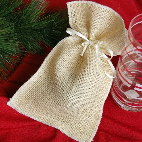 Natural Burlap Favor Pouches