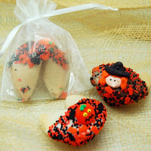 Halloween Dipped Fortune Cookie