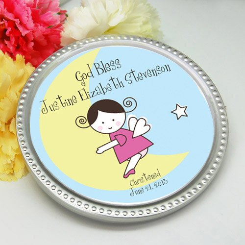 Personalized Baptism Chocolate Disc Favor