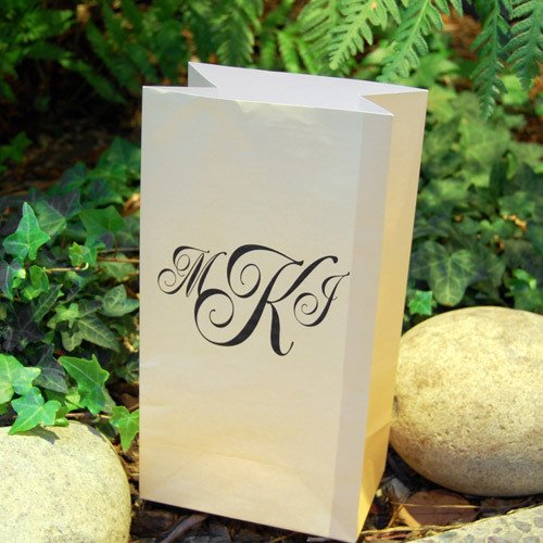 Monogram Paper Luminaries