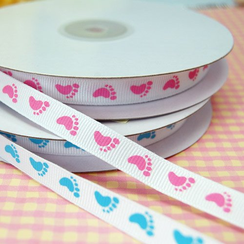 Baby Feet Grosgrain Ribbon