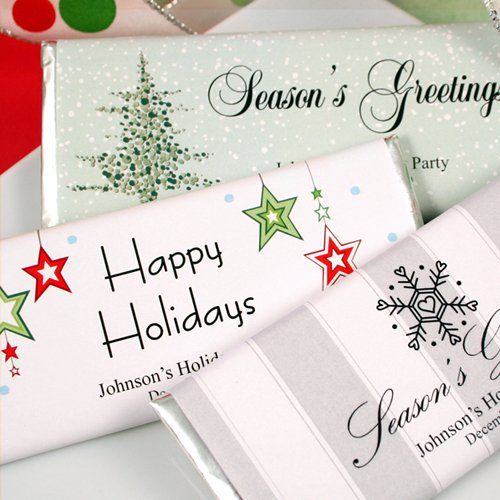Personalized Holiday Hershey's Chocolate Bars