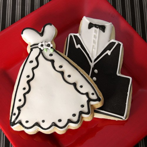 Tuxedo and Wedding Dress Cookie