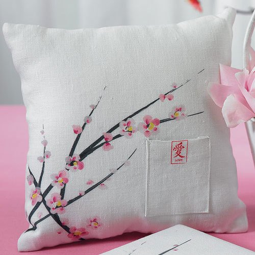Cherry Blossom Ring Bearer Pillow