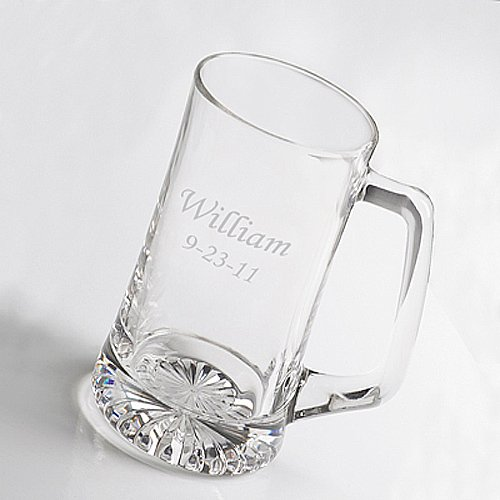 Personalized Glass Sports Mug