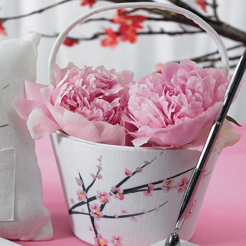 Cherry Blossom Flower Girl Basket