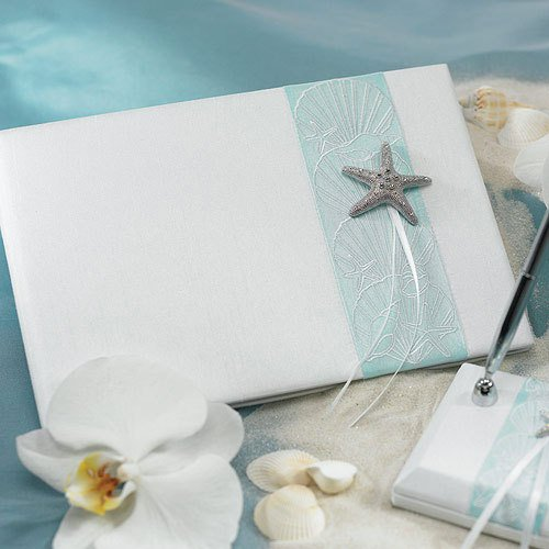 Seaside Allure Guest Book and Pen Set