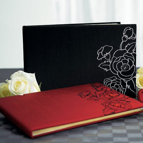 Silhouettes in Bloom Guest Book and Pen Set