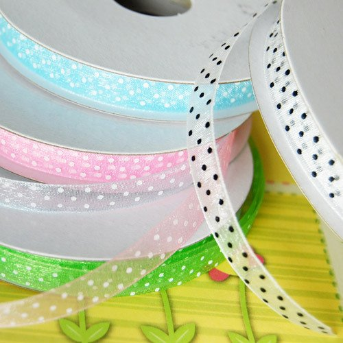Sheer Organza Polka Dot Ribbon