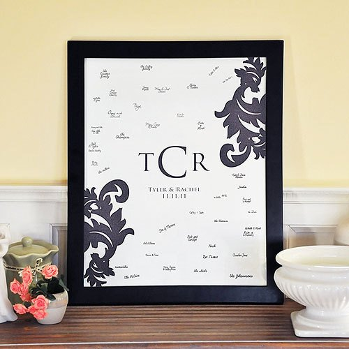 Damask Monogram Signature Frame