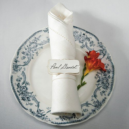 Die-cut Napkin Ring Place Cards