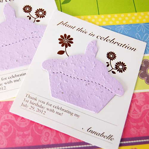 Personalized Designer Birthday Seed Card Favor