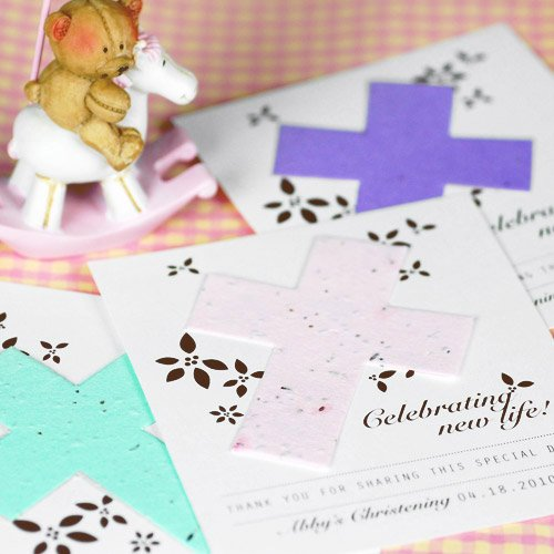 Personalized Designer Religious Seed Card Favor