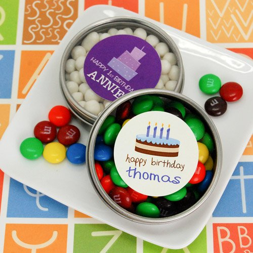 Personalized Birthday Clear Top Candy Tin