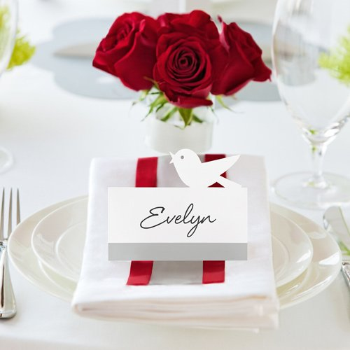 Designer Bird Place Cards