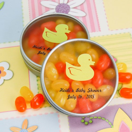 Custom Printed Baby Shower Peek-a-boo Candy Tin