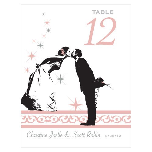 Personalized Vintage Hollywood Table Number Cards
