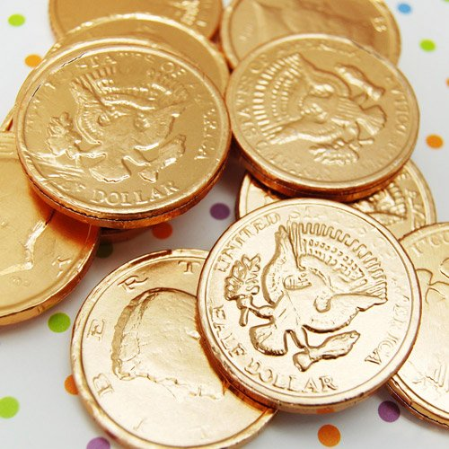 Chocolate Half Dollar Coins