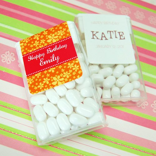 Personalized Birthday Tic Tacs Favor