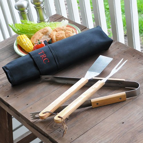 3 Piece Personalized BBQ Grill Set
