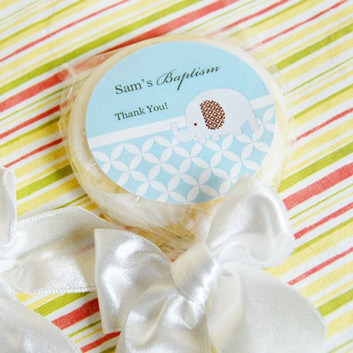 Personalized Baptism Lollipop Favor