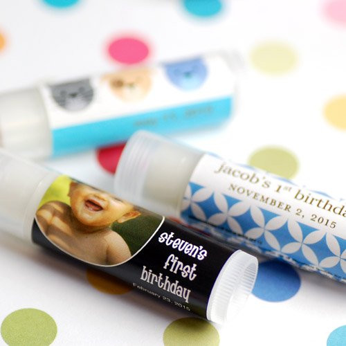Personalized Lip Balm Birthday Party Favor