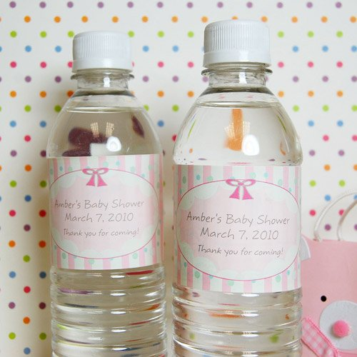 Personalized Baby Shower Drink Labels