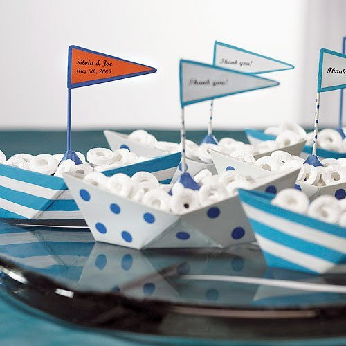 Mini Metal Sailboats