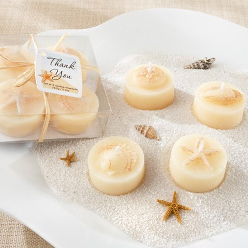 Seashell Tea Light Candles