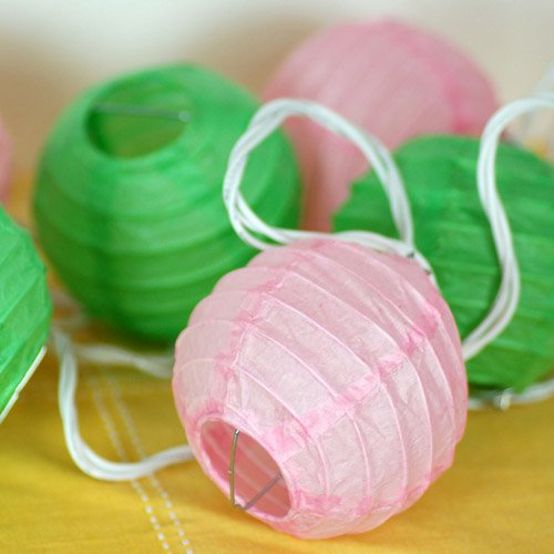 Mini Round Lantern String Lights