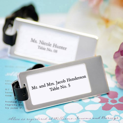 Silver Travel Luggage Tags