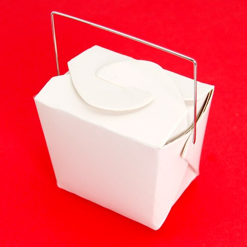 Mini White Chinese Takeout Boxes