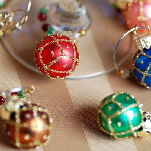 Mini Ornament Wine Charms