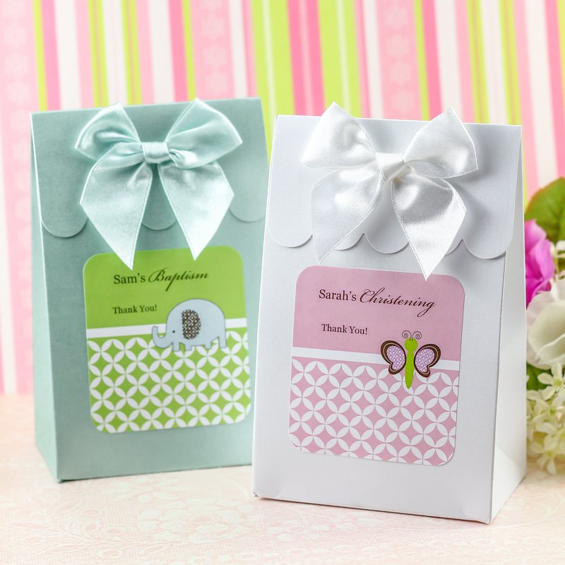 Personalized Baptism Candy Bags