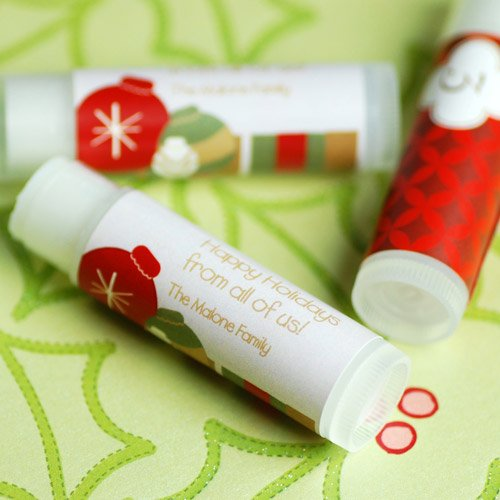 Personalized Lip Balm Holiday Favor