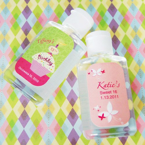 Personalized Birthday Hand Sanitizer