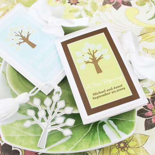 Personalized Fall Tree Bookmarks