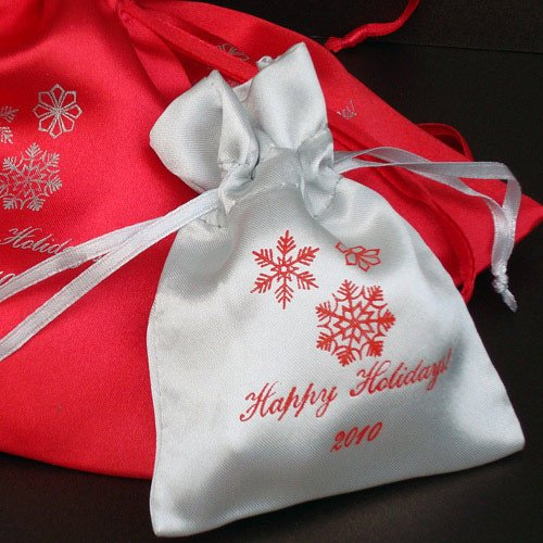 Personalized Color Satin Party Favor Bag
