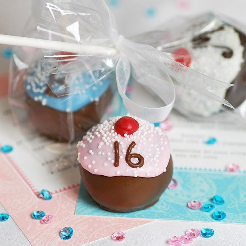 Mini Personalized Cupcake Brownie Favor Pop