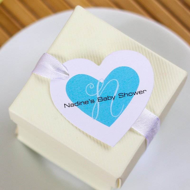 Personalized Heart Shaped Baby Shower Gift Tags