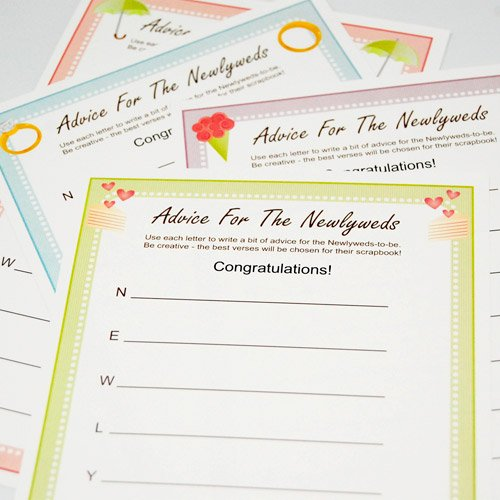 Exclusive Personalized Advice for the Newlyweds Game