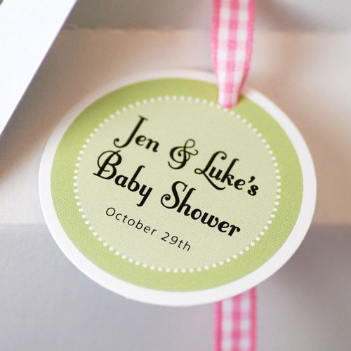 Personalized Round Baby Shower Gift Tags