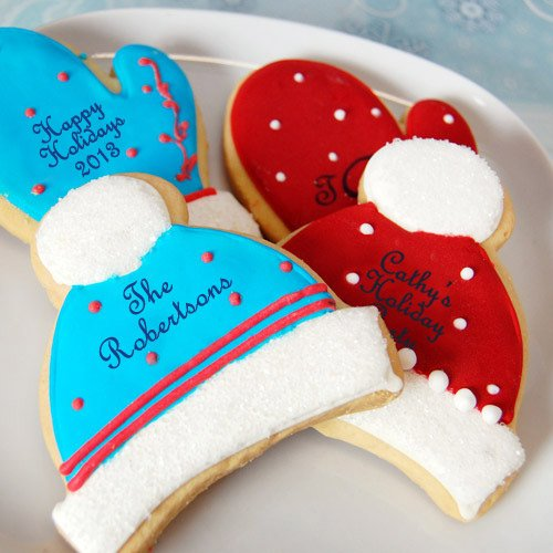 Personalized Winter Themed Cookie