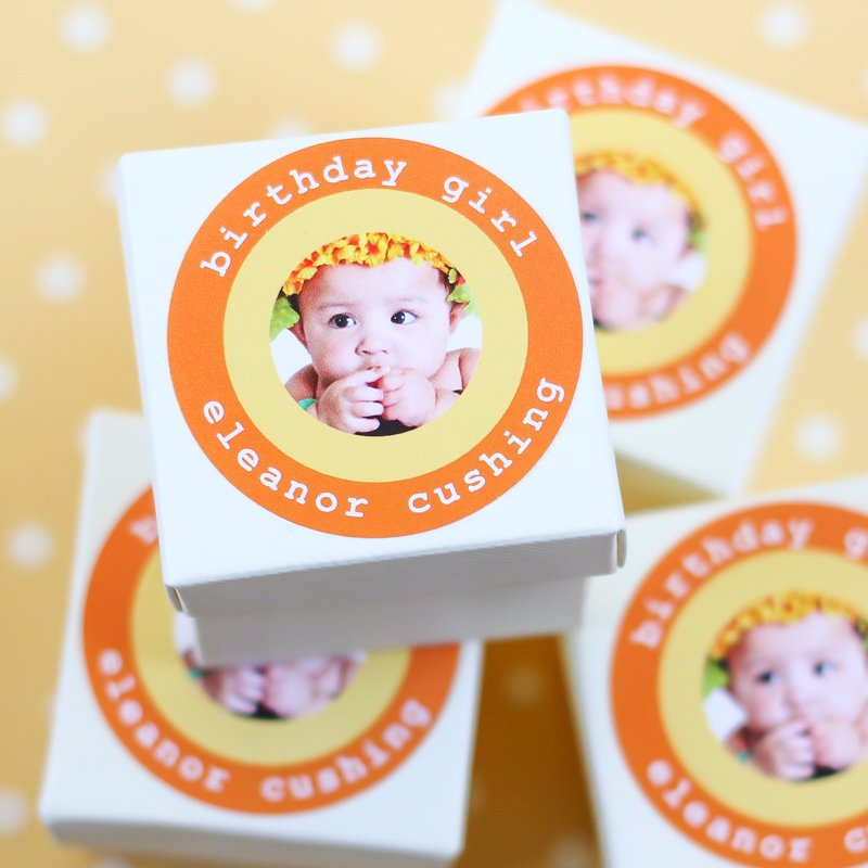 Personalized Round Birthday Labels