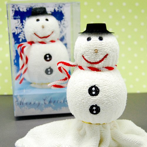 Snowman Towel Christmas Favor