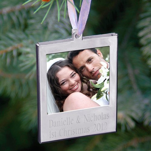Personalized Photo Frame Holiday Ornament