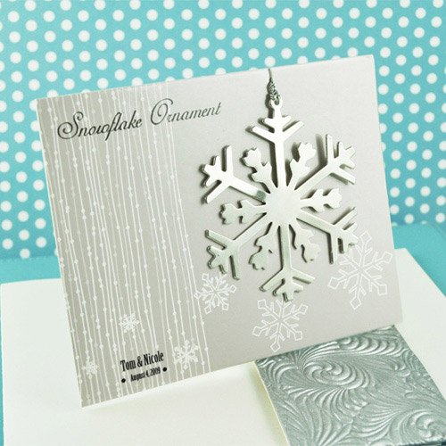 Silver Snowflake Ornament With Gift Card