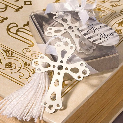 Silver Cross Bookmark Favor