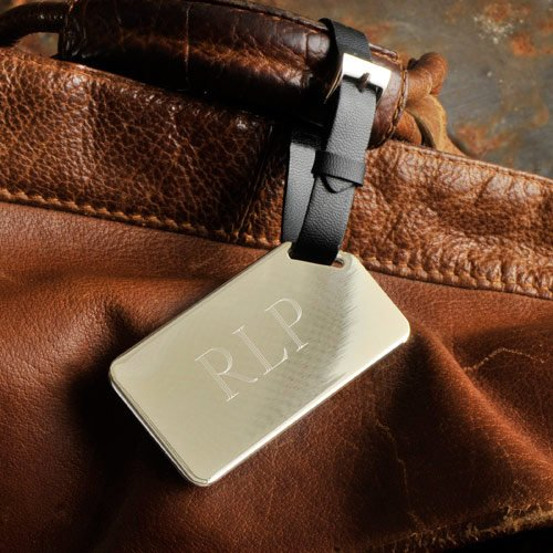Engraved Monogram Luggage Tag